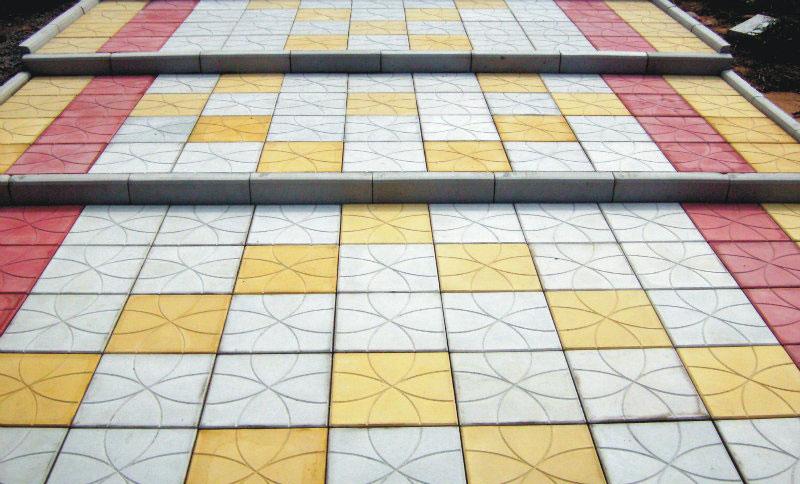 Цветок 35 - вибролитая тротуарная плитка
