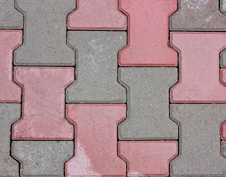Катушка - вибролитая тротуарная плитка