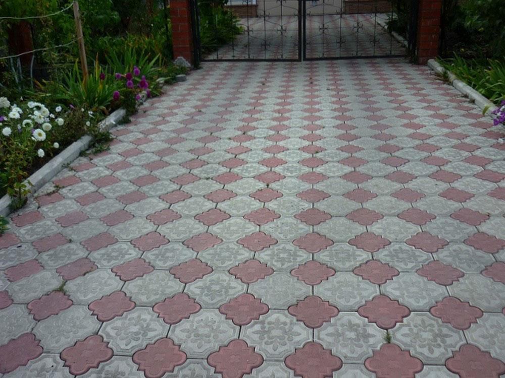 Клевер Краковский - вибролитая тротуарная плитка