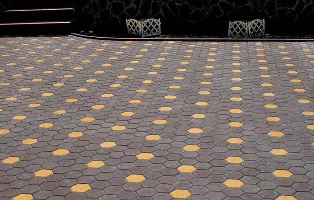 Соты - вибролитая тротуарная плитка