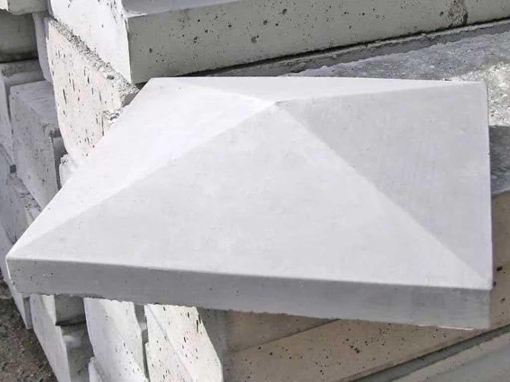Колпаки на столбы забор бетонные