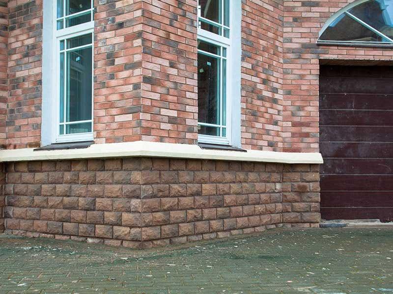 Облицовочная вибролитая плитка фасадная