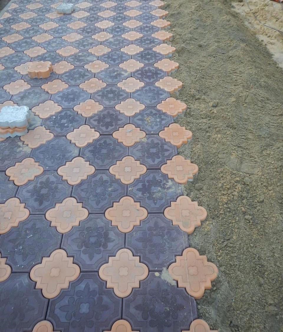 Гжелка большая - вибролитая тротуарная плитка